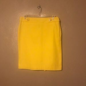 Rafella yellow skirt size 12, Cotton& side zipper